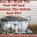 cleaning-central-air-unit-foams-up-then-we-hose-off